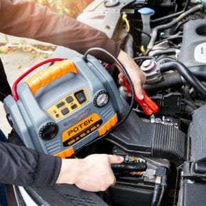 POTEK jump starter with air compressor review